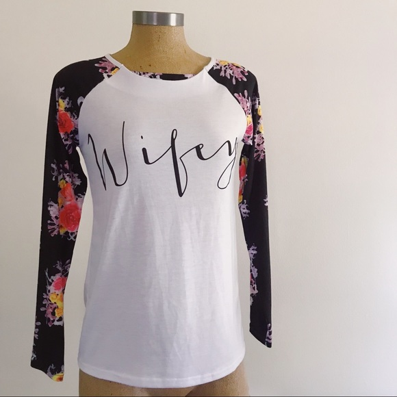 78c572f6 local boutique Tops - Boutique Wifey baseball shirt *Reserved for Rachel
